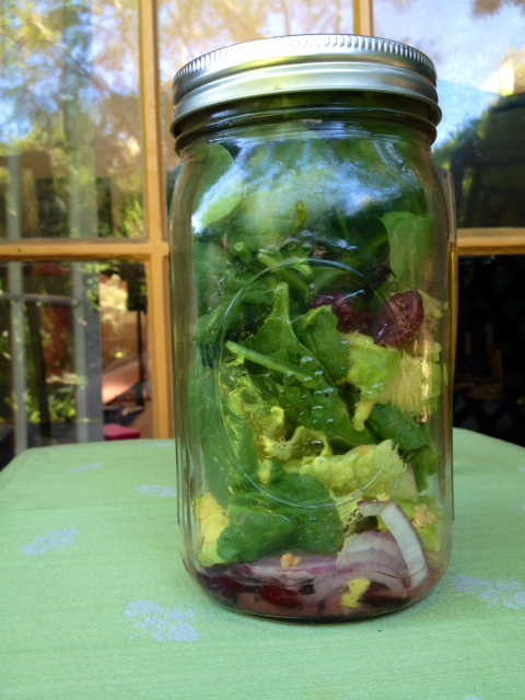 cran bog salad in a jar