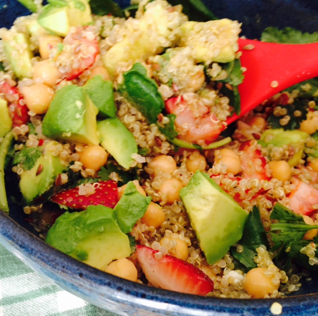 avoc straw salad